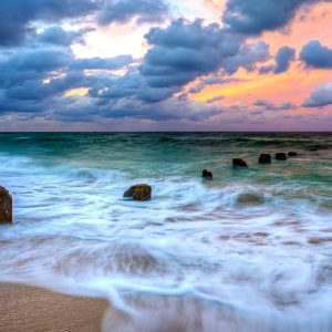 Ocean Waves Peaceful Amazing Sea Sunrise Sunset Sky Colors Splendor Sand Nature Beauty Beautiful Lovely Clouds Beach View Desktop Images